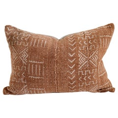 Vintage African Mud Cloth Lumbar Pillow from Mali
