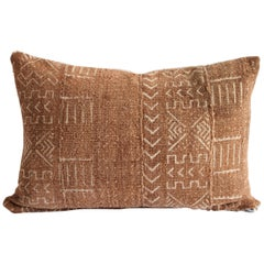Vintage African Mudcloth Lumbar Pillow