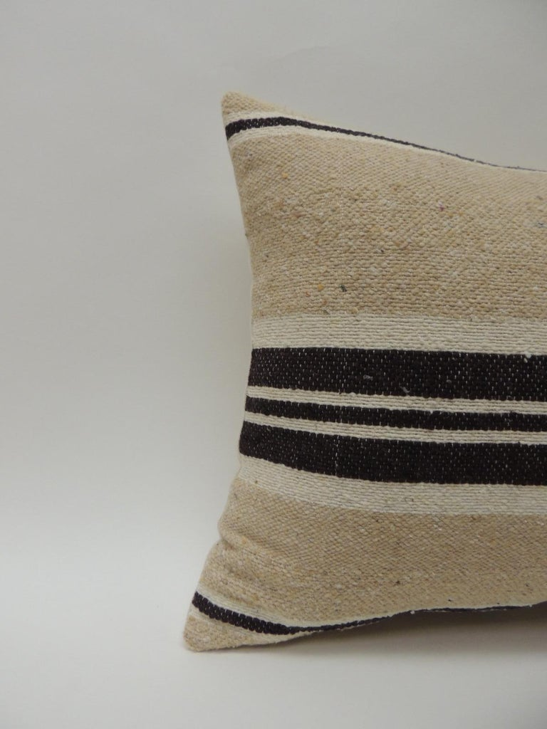 Vintage African woven tribal artisanal textile decorative pillow