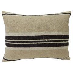 Vintage African Woven Tribal Artisanal Textile Decorative Bolster Pillow