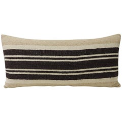 Vintage African Woven Tribal Artisanal Textile Decorative Long Bolster Pillow