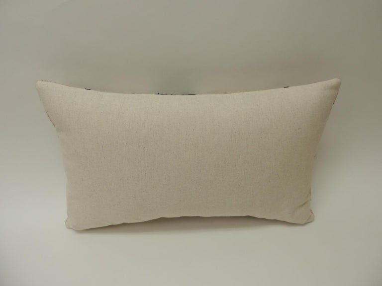 Hand-Crafted Vintage African Woven Tribal Artisanal Textile Decorative Lumbar Pillow For Sale