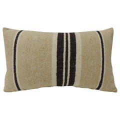 Vintage African Woven Tribal Artisanal Textile Decorative Lumbar Pillow