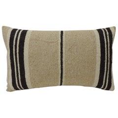 Vintage African Woven Artisanal Textile Decorative Lumbar Pillow