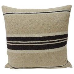 Vintage African Woven Tribal Artisanal Textile Decorative Square Pillow