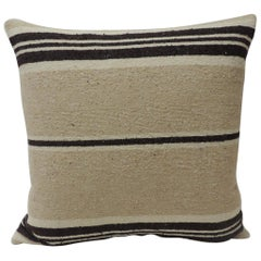 Vintage African Woven Tribal Artisanal Textile Decorative Square Pillow