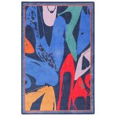 Vintage After Andy Warhol Ege Art Line Diamond Dust Shoes Scandinavian Rug