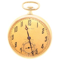 Vintage Agassiz W & Co Made for Tiffany & Co Yellow Gold Pocket Watch