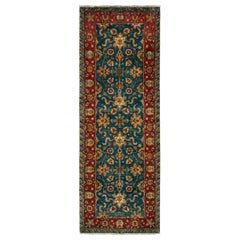 Rug & Kilim's Vintage Agra Style Runner in Transitional All-Over Floral Pattern