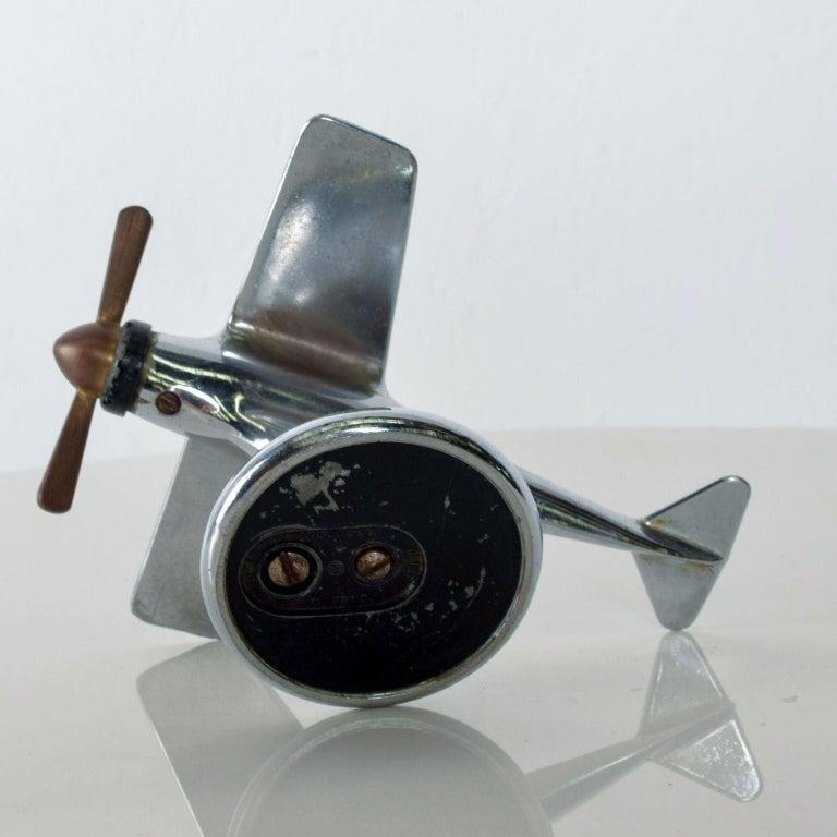 American Vintage Airplane Table Cigarette Lighter Midcentury Mod USA For Sale