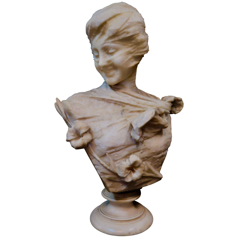 Vintage Alabaster Sculpture by Emilio Fiaschi