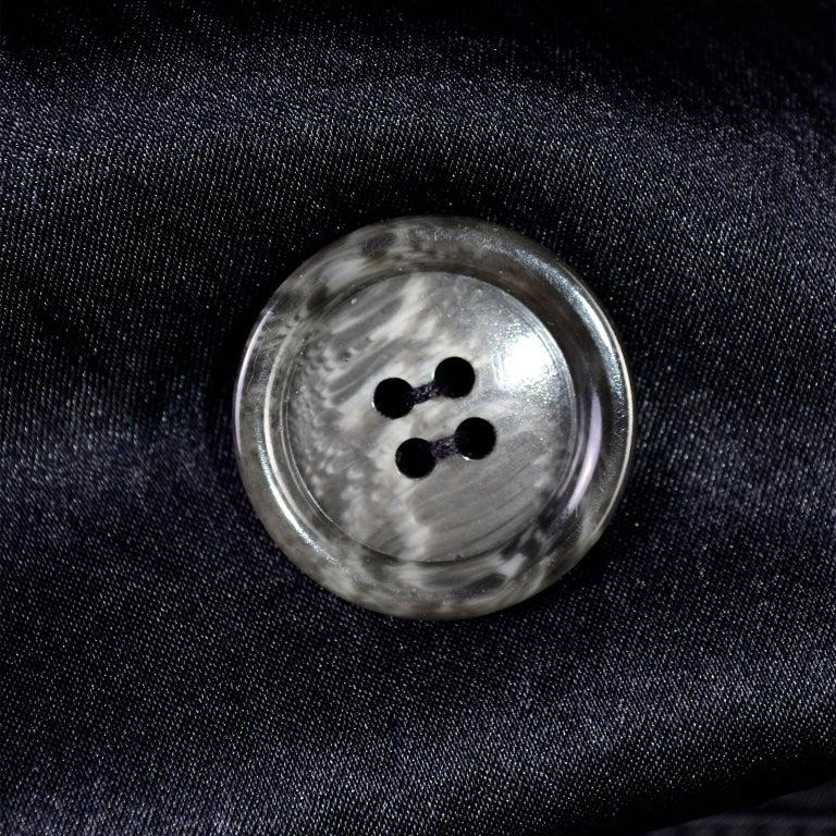 Vintage Alaia Paris Raincoat 1990s Black Trench Coat 15