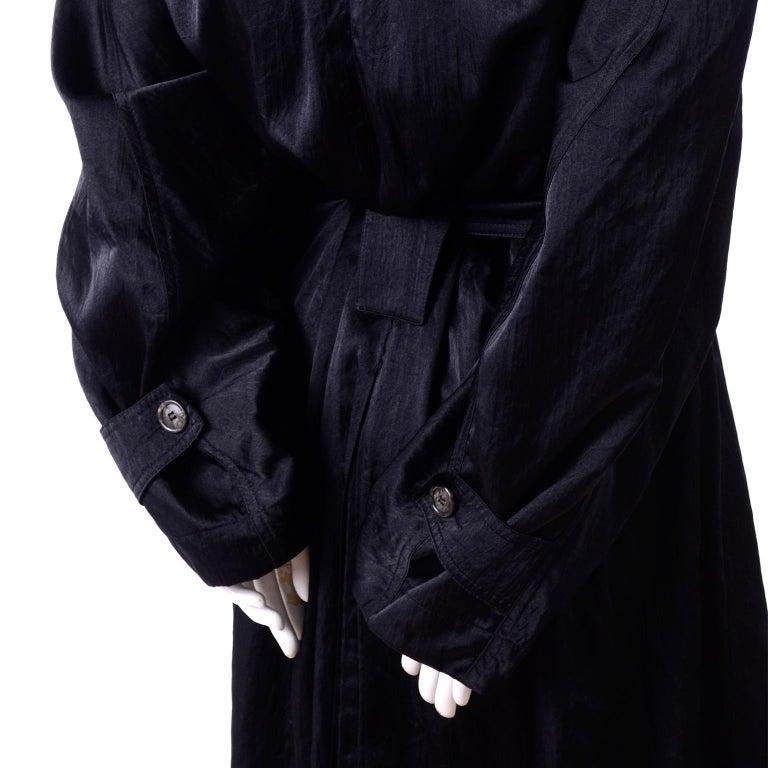 Vintage Alaia Paris Raincoat 1990s Black Trench Coat 8
