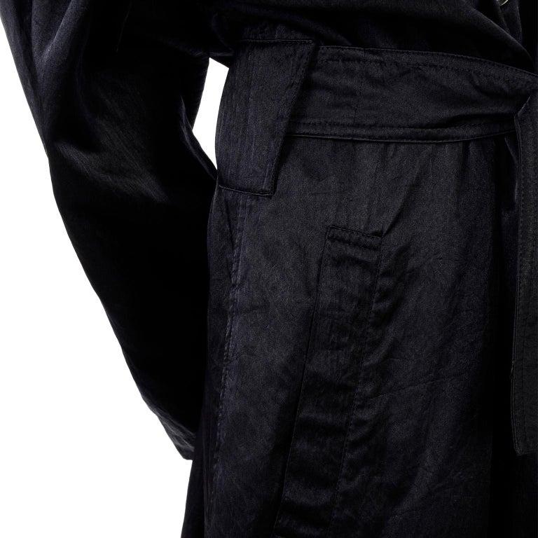 Vintage Alaia Paris Raincoat 1990s Black Trench Coat 9