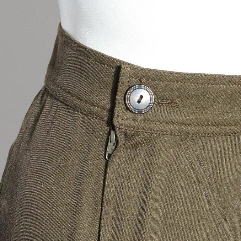 Brown Vintage Alaia Skirt For Sale