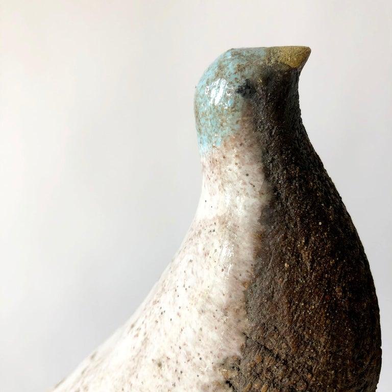 Vintage Aldo Londi Bitossi Italian Modernist Ceramic Pair of Birds Sculptures For Sale 1