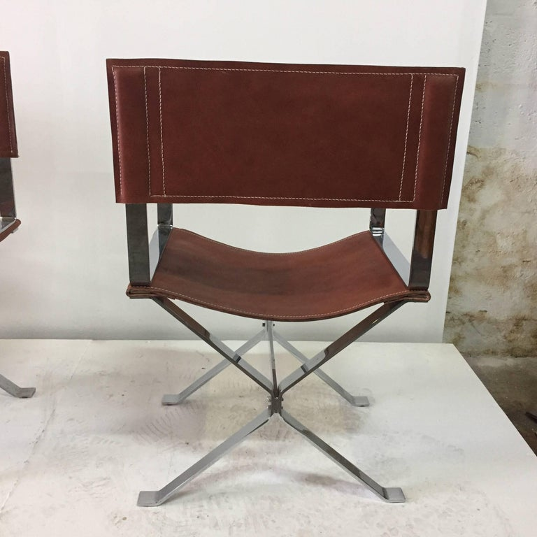 Vintage Alessandro Albrizzi Director Armchairs Set Of