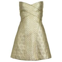 Vintage Alexander McQueen Gold Leather Armor Runway 2007 Dress
