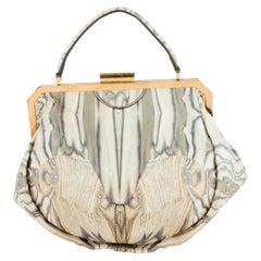 Vintage Alexander McQueen Leather Butterfly Printed Handbag