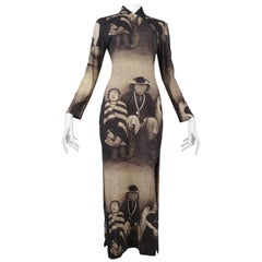 Vintage Alexander McQueen Rare Blind Colony Dress Dante 1996