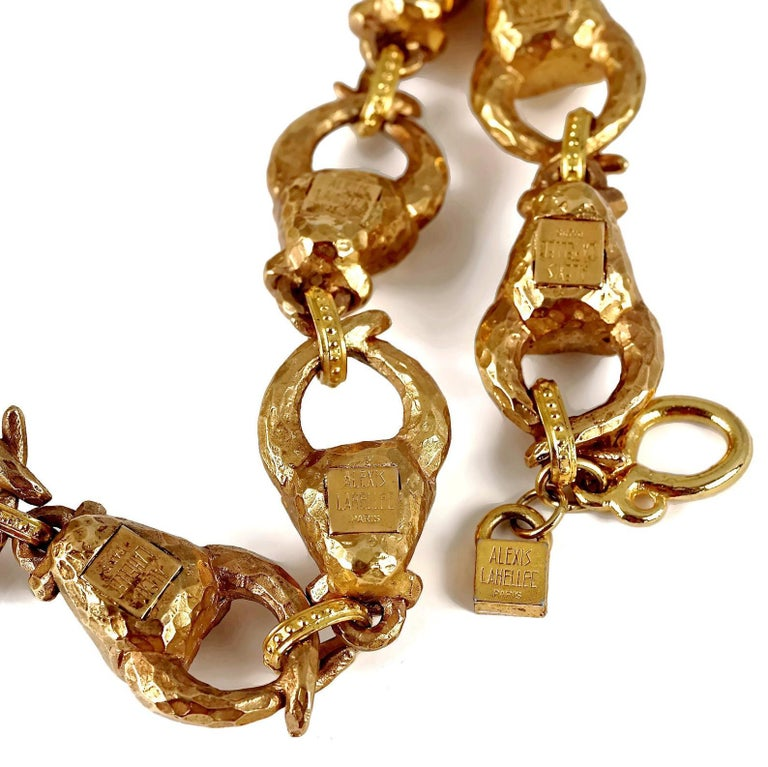 Vintage ALEXIS LAHELLEC PARIS Hammered Claw Choker Necklace For Sale 6