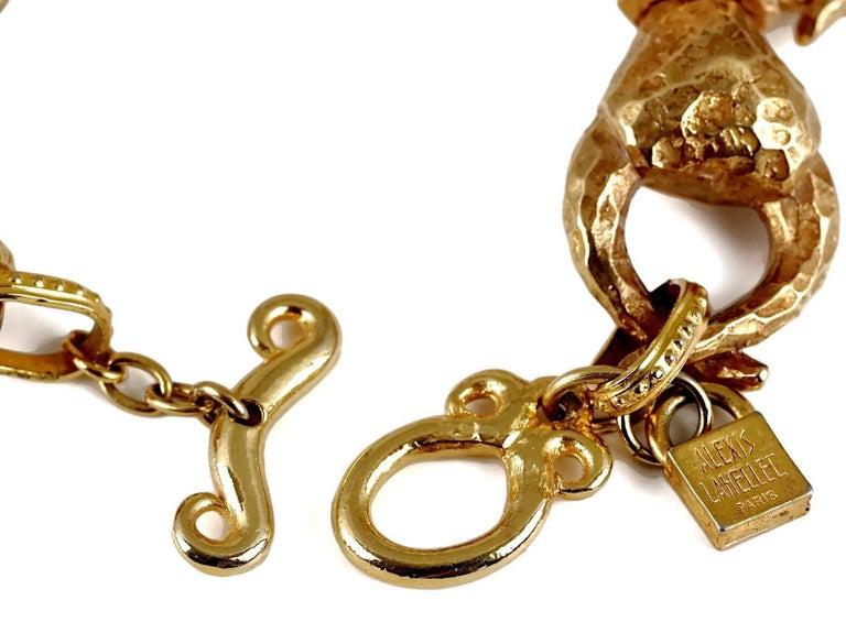 Vintage ALEXIS LAHELLEC PARIS Hammered Claw Choker Necklace For Sale 7