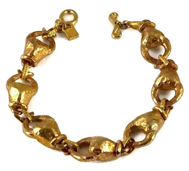 Vintage ALEXIS LAHELLEC PARIS Hammered Claw Choker Necklace In Excellent Condition For Sale In Kingersheim, Alsace