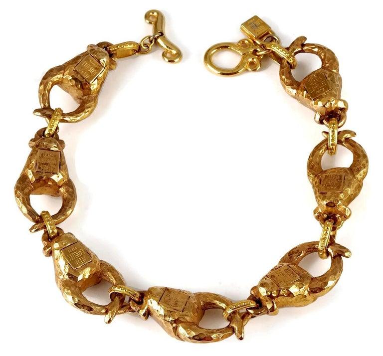 Vintage ALEXIS LAHELLEC PARIS Hammered Claw Choker Necklace For Sale 5