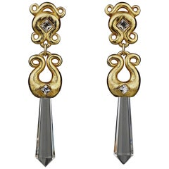 Vintage ALEXS LAHELLEC PARIS Prism Dangling Earrings