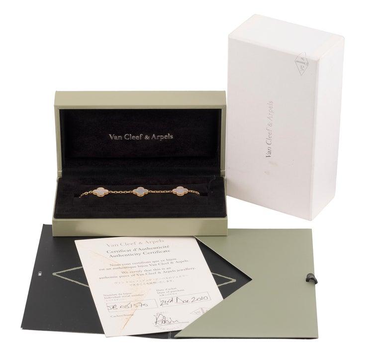 Contemporary Vintage Alhambra Bracelet by Van Cleef & Arpels For Sale