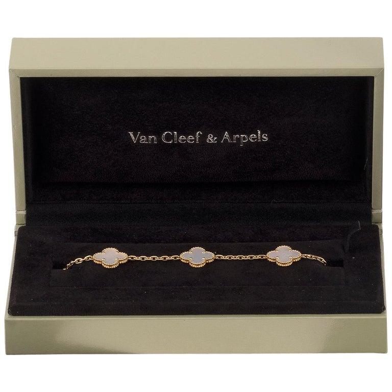 Vintage Alhambra Bracelet by Van Cleef & Arpels For Sale