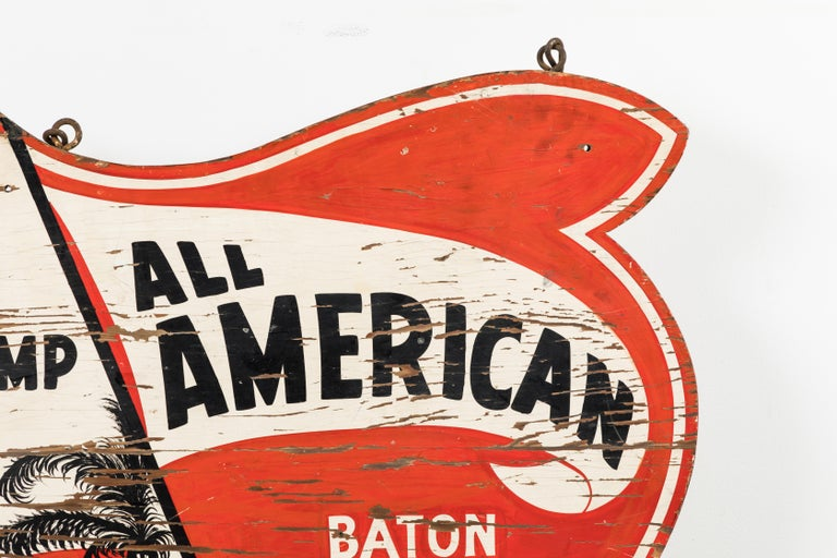 Vintage All American Cheerleading and Baton Twirling Trade Sign For Sale 4