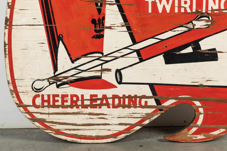 Vintage All American Cheerleading and Baton Twirling Trade Sign For Sale 6