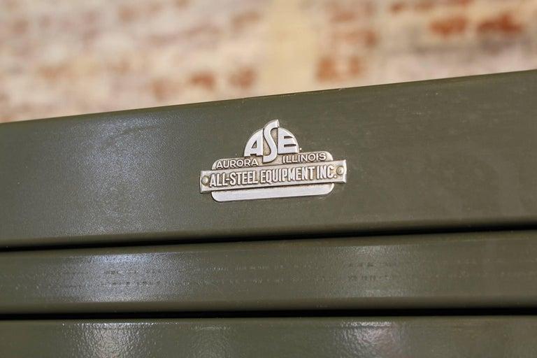 Vintage All-Steel Flat File Storage Cabinet For Sale 3