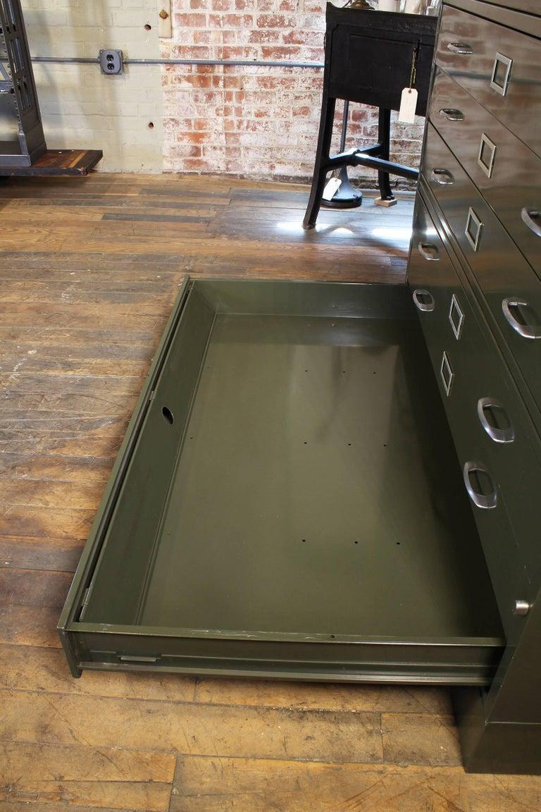 Vintage All-Steel Flat File Storage Cabinet For Sale 4