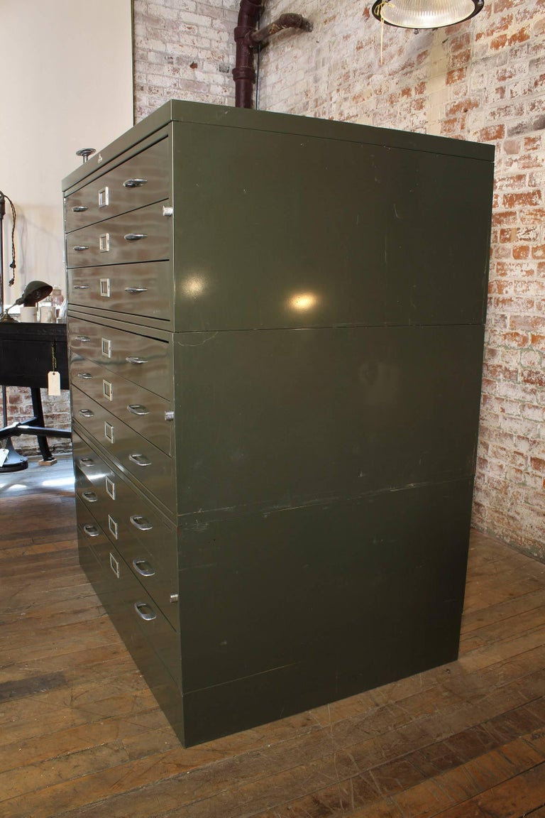 Vintage All-Steel Flat File Storage Cabinet For Sale 6