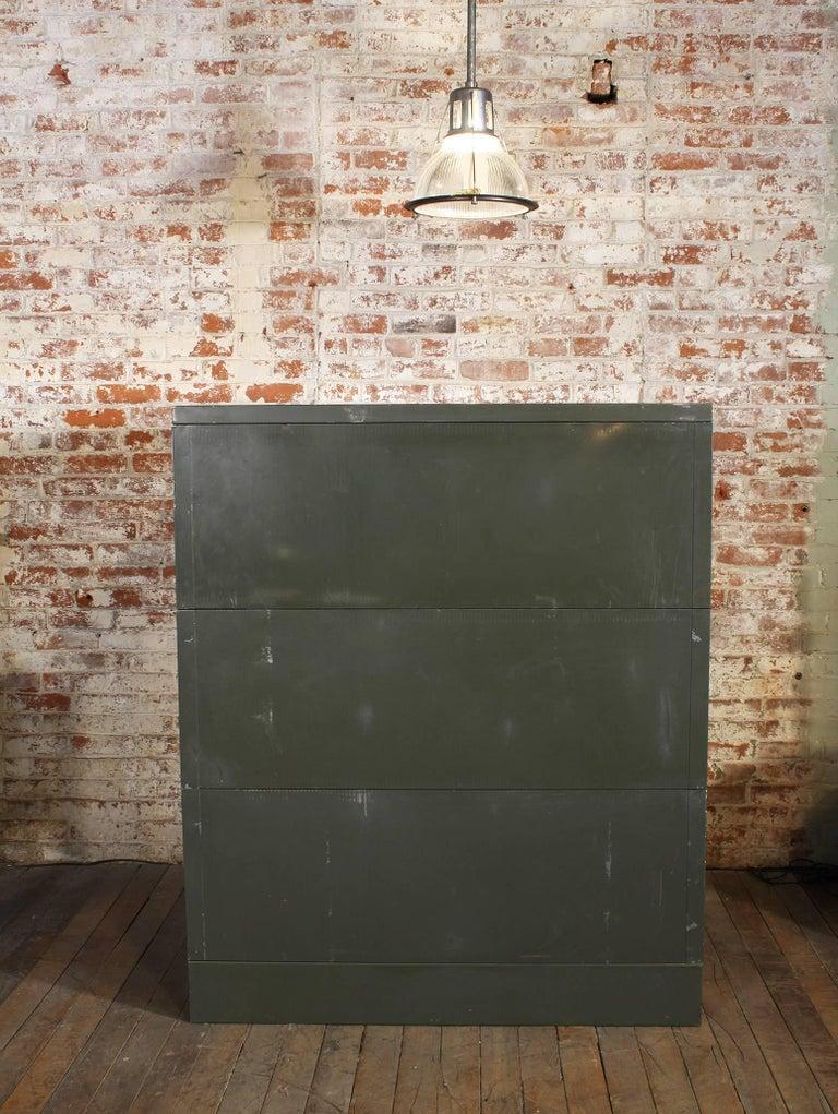 Vintage All-Steel Flat File Storage Cabinet For Sale 7