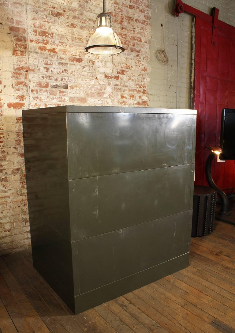 Vintage All-Steel Flat File Storage Cabinet For Sale 8