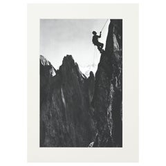Vintage Alpine Photograph, Climber, Simelistock, Switzerland