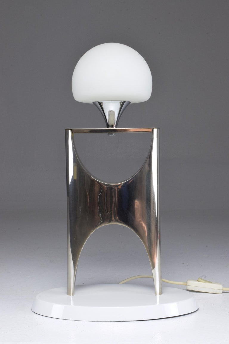 20th Century Sculptural Aluminum Table Lamp, 1950-1960 For Sale 1