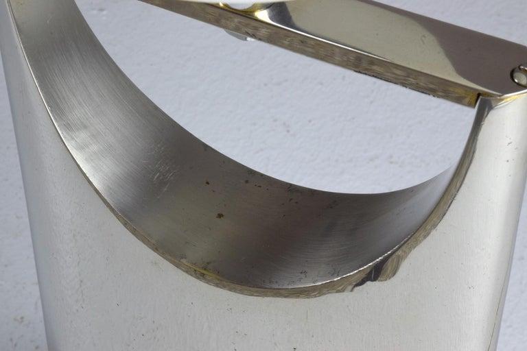 20th Century Sculptural Aluminum Table Lamp, 1950-1960 For Sale 4