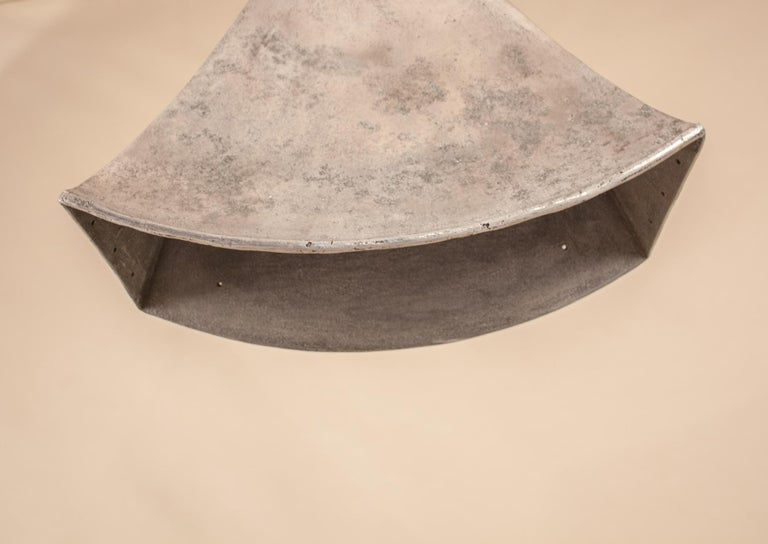 Vintage Aluminum Industrial Pendant Light For Sale 5