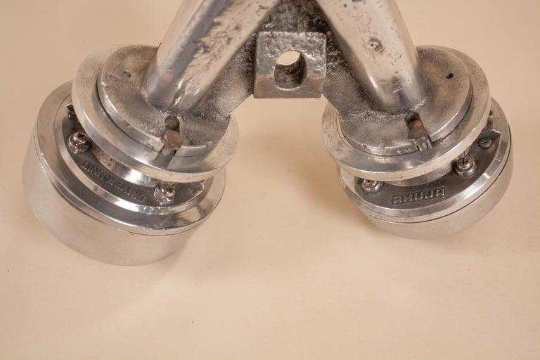 Vintage Aluminum Industrial Pendant Light For Sale 7