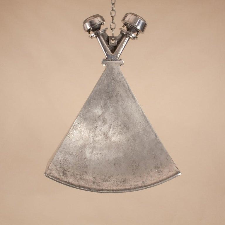 Vintage Aluminum Industrial Pendant Light For Sale 9