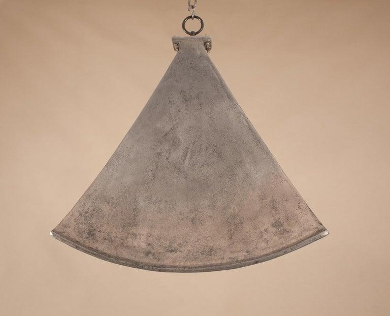 Indian Vintage Aluminum Industrial Pendant Light For Sale