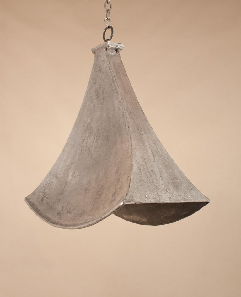 20th Century Vintage Aluminum Industrial Pendant Light For Sale