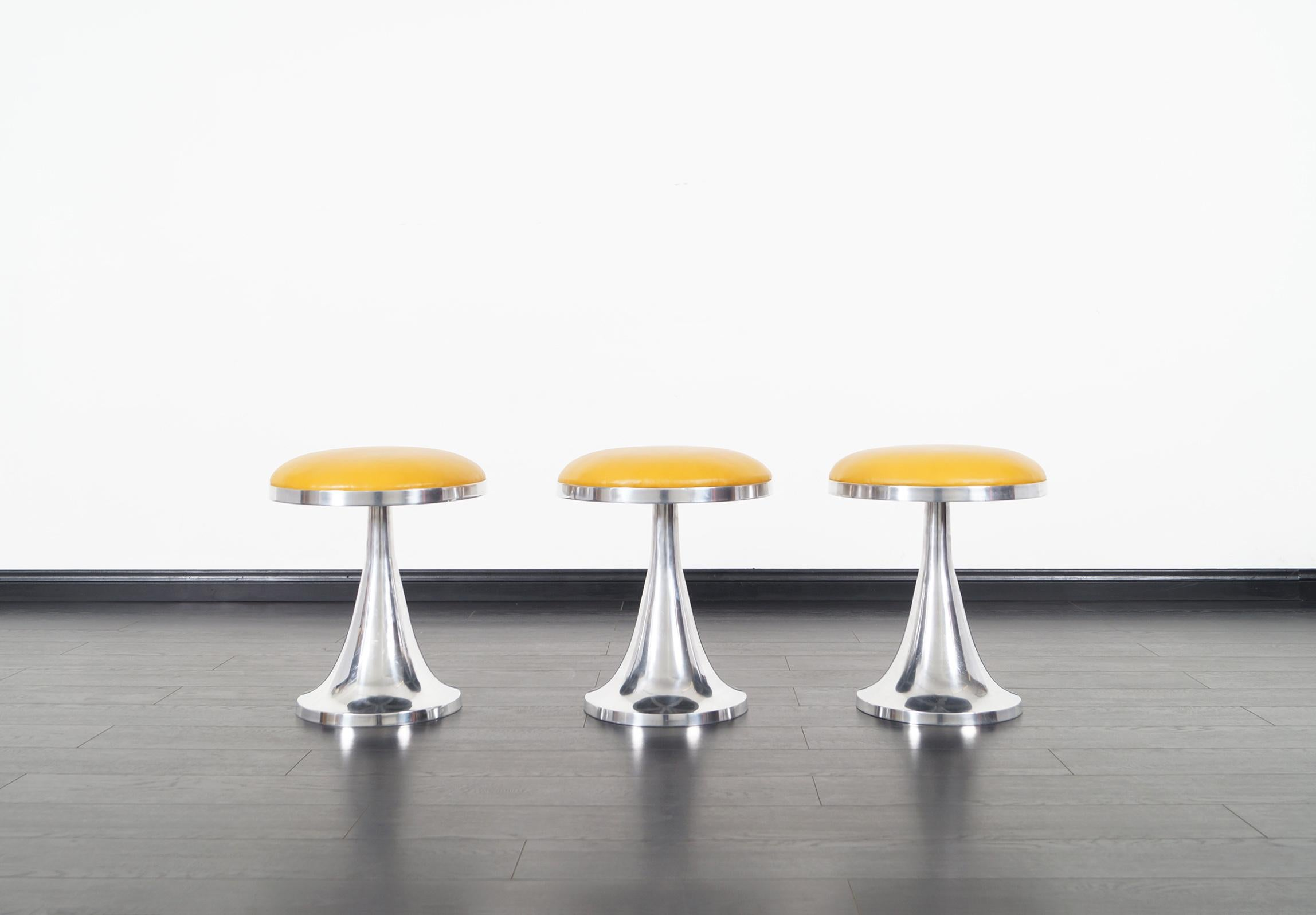 Super Vintage Aluminum Stools At 1Stdibs Uwap Interior Chair Design Uwaporg