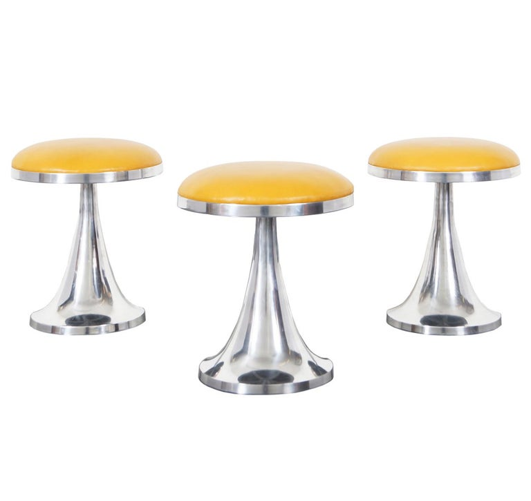 Vintage Aluminum Stools For Sale