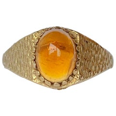 Vintage Amber and 9 Carat Gold Ring