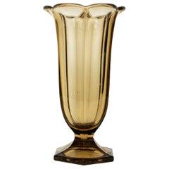 Vintage Amber Glass Vase from Sweden, 1970s